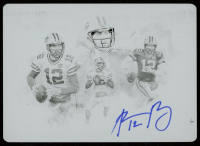 Aaron Rodgers 2019 Panini Impeccable Canvas Creations Autographs Printing Plates Black #12 at PristineAuction.com