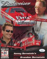 Kenny Bernstein & Brandon Bernstein Signed 2009 Budweiser / Lucas Oil Dragster 8x10 Print (JSA COA) at PristineAuction.com