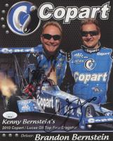 Kenny Bernstein & Brandon Bernstein Signed 2010 Copart / Lucas Oil Top Fuel Dragster 8x10 Print (JSA COA) at PristineAuction.com