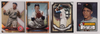 Lot of (4) Assorted Baseball Cards with 2018 Topps Museum Collection #49 Jackie Robinson, 2014 Topps Future Stars That Never Were #FS16 Willie Mays, 2018 Topps Triple Threads #75 Ty Cobb & 2018 Topps Tribute #49 Whitey Ford at PristineAuction.com