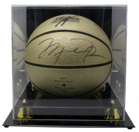 Michael Jordan Signed LE Mr. June Gold Basketball with High-Quality Display Case (UDA COA) at PristineAuction.com