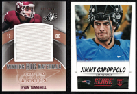 Lot of (2) Jimmy Garoppolo 2014 Score #386 RC & 2012 SPx Winning Big Materials #WM29 Ryan Tannehill Football Cards at PristineAuction.com