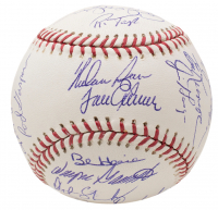 1969 World Champion Mets OML Baseball Team-Signed by (24) with Nolan Ryan, Tom Seaver, Cleon Jones, Jerry Koosman (JSA LOA) at PristineAuction.com