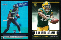 Lot of (2) Football Rookie Cards With D.K. Metcalf 2019 Prestige Xtra Points Green #223 & Davante Adams 2014 Rookies and Stars #126 RC at PristineAuction.com