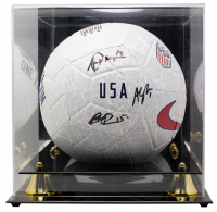 Megan Rapinoe, Alex Morgan & Alyssa Naeher Signed Team USA Nike Soccer Ball with High-Quality Display Case (JSA COA) at PristineAuction.com