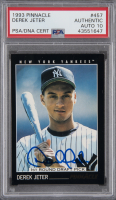 Derek Jeter Signed 1993 Pinnacle #457 RC (PSA Encapsulated) at PristineAuction.com