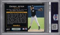 Derek Jeter Signed 1993 Pinnacle #457 RC (PSA Encapsulated) at PristineAuction.com