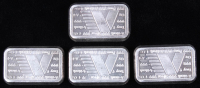 Lot of (4) 1 Troy Ounce .999 Fine Silver A-Mark Bullion Bars at PristineAuction.com