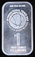 "1 Troy Oz. 999 Fine Silver ""ITB"" Bullion Bar at PristineAuction.com"