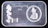 Vintage 1973 1 Oz. 999 Fine Silver Thanksgiving Bullion Bar at PristineAuction.com
