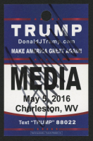 Donald Trump Signed 2016 Media West Valley Rally Pass (PSA Hologram) at PristineAuction.com