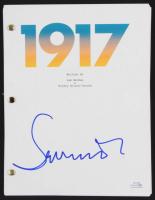 "Sam Mendes Signed ""1917"" Movie Script (ACOA COA) at PristineAuction.com"
