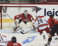 Sebastian Aho Signed Hurricanes 8x10 Photo (PSA COA) at PristineAuction.com