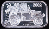 2002 1 Troy Oz. 999 Fine Silver Holiday Bullion Bar at PristineAuction.com