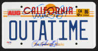 "Michael J. Fox & Christopher Lloyd Signed ""Back to the Future"" License Plate (PSA LOA) at PristineAuction.com"