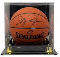 Michael Jordan Signed Official Game Ball Basketball with Display Case (UDA Hologram) at PristineAuction.com