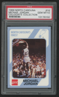 Michael Jordan 1989-90 North Carolina Collegiate Collection #16 (PSA 10) at PristineAuction.com