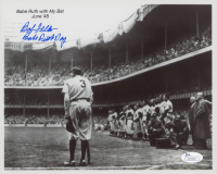 """Bob Feller Signed Indians 8x10 Photo Inscribed """"Babe Ruth Day"""" (JSA COA) at PristineAuction.com"""