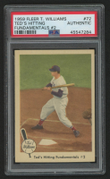 Ted Williams 1959 Fleer #72 Hitting Fundamental 2 (PSA Authentic) at PristineAuction.com