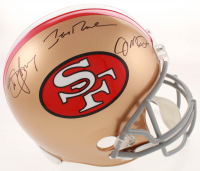 "Joe Montana, Jerry Rice & Steve Young Signed ""49ers Hall of Famers"" Full-Size Authentic Pro-Line Helmet (Radtke, Montana, Rice & Young Hologram) at PristineAuction.com"