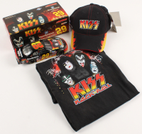 Lot of (3) KISS Memorabilia Items with Kevin Harvick Die-Cast Car, Snapback Hat, & T-Shirt at PristineAuction.com