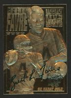 Brett Favre 1996 Score Board 23KT Gold Football Card at PristineAuction.com
