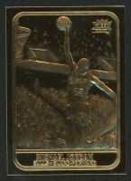 Michael Jordan 1997 Fleer 23KT Gold Card '86 Rookie at PristineAuction.com