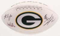 Aaron Jones, Jamaal Williams, & Danny Vitale Signed Packers Logo Football (JSA COA) at PristineAuction.com