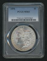 1896 Morgan Silver Dollar (PCGS MS61) at PristineAuction.com