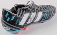 """Lionel Messi Signed Nike Football Cleat Inscribed """"Leo"""" (Beckett COA) at PristineAuction.com"""