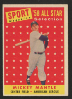 Mickey Mantle 1958 Topps #487 AS TP at PristineAuction.com