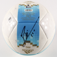 "Lionel Messi Signed 2018 Argentina FIFA World Cup Logo Soccer Ball Inscribed ""Leo"" (Beckett COA) at PristineAuction.com"