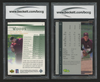Lot of (2) BCCG Graded Sports Cards with 2001 Upper Deck #1 Tiger Woods RC (BCCG 9) & 1992 Classic Four Sport #231 Derek Jeter (BCCG 10) at PristineAuction.com