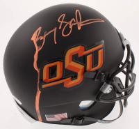 Barry Sanders Signed Oklahoma State Cowboys Matte Black Mini Helmet (Schwartz CO at PristineAuction.com