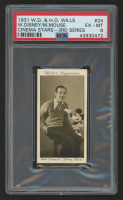 Walt Disney with Mickey Mouse 1931 Will's Cinema Stars (PSA 6) at PristineAuction.com