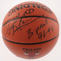"Dennis Rodman Signed Bulls NBA Game Ball Series Logo Basketball Inscribed ""3-Peat 96-98"" (Schwartz COA) at PristineAuction.com"