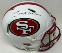 Jerry Rice Signed 49ers Full-Size Authentic On-Field Matte White Speed Helmet (Fanatics Hologram) at PristineAuction.com