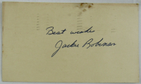 """Jackie Robinson Signed 1956 3x5 Government Postcard Inscribed """"Best Wishes"""" (JSA LOA) at PristineAuction.com"""