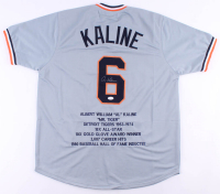 Al Kaline Signed Career Highlight Stat Jersey (JSA COA) at PristineAuction.com