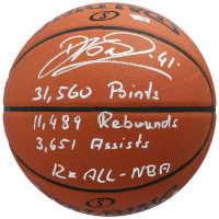 Dirk Nowitzki Signed LE Basketball with (4) Stat Inscriptions (Fanatics Hologram) at PristineAuction.com