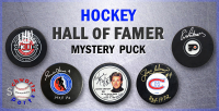 Schwartz Sports Hockey Hall of Famer Signed Logo Hockey Puck Mystery Box - Series 9 (Limited to 100) at PristineAuction.com