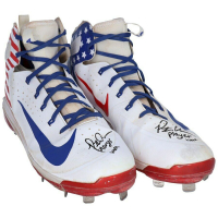 "Pete Alonso Signed Player Worn Nike Pair of Baseball Cleats Inscribed ""Player Worn"" (Fanatics Hologram) at PristineAuction.com"