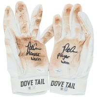 "Pete Alonso Signed Player Worn Pair of Dove Tail Baseball Batting Gloves Inscribed ""Player Worn"" (Fanatics Hologram) at PristineAuction.com"