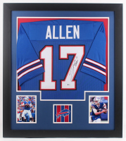 Josh Allen Signed 31x35 Custom Framed Jersey (Beckett COA) at PristineAuction.com