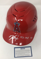 "Mike Trout Signed Angels LE Full-Size Batting Helmet Inscribed ""'14/'16 MVP"" (Steiner COA) at PristineAuction.com"