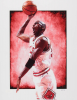 "Jeff Lang Signed Michael Jordan Bulls AP 11"" x 14"" Art Print (Pristine Authentic COA) at PristineAuction.com"