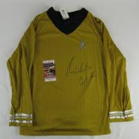 "William Shatner Signed Prop Replica Uniform Shirt Inscribed ""Capt. Kirk"" (JSA COA) at PristineAuction.com"