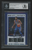 Joel Embiid Signed 2019-20 Panini Contenders Draft Picks Variations Draft Ticket Blue Foil #21 (BGS Encapsulated) at PristineAuction.com