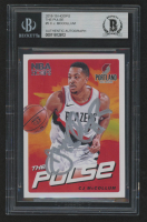 CJ McCollum Signed 2018-19 Hoops The Pulse #5 (BGS Encapsulated) at PristineAuction.com