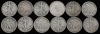 Lot of (12) 1920-1947 Walking Liberty Silver Half Dollars at PristineAuction.com